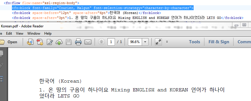 xep-support: [xep-support] Re: Korean and English Characters Mix